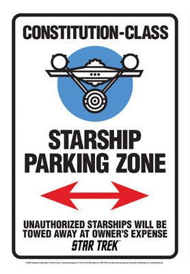 STAR TREK STARSHIP PARK ZONE TIN SIGN