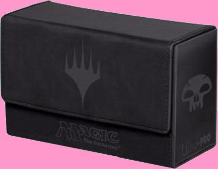 Ultra PRO Dual Flip Deck Box - Magic Mana - Black (New)