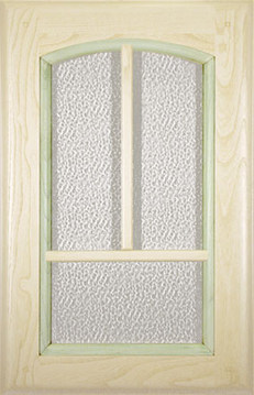 Decapé/green painted / Glass doors