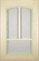 Decapé/green painted / Glass doors