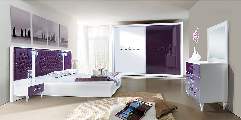 Avangarde Purple - Modern Bedroom