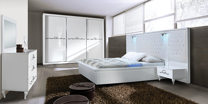 Avangarde White - Modern Bedroom