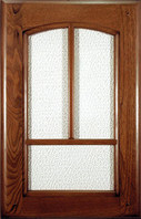 Dark walnut painted / Glass doors