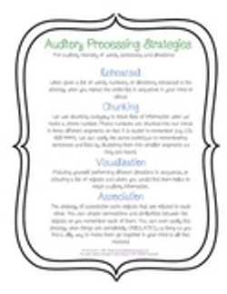 Auditory Processing Strategies