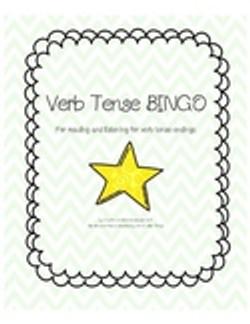 Verb Tense Bingo