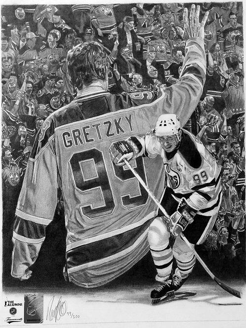 "SPORTS PRINT | Wayne Gretzky Edmonton Oilers | 10 3/4"" x 14"""