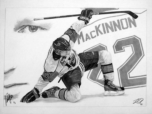 "ORIGINAL ART | Nathan MacKinnon Autograph  | 22"" x 30"""
