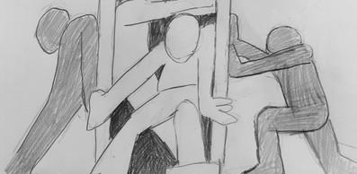 pencil sketch door open.jpg