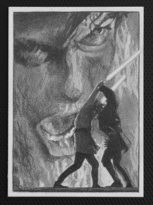 ORIGINAL ART   Star Wars Card   Anakin Skywalker