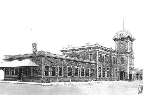 """ART PRINT   Old Truro Train Station   7"""" x 15"""""""