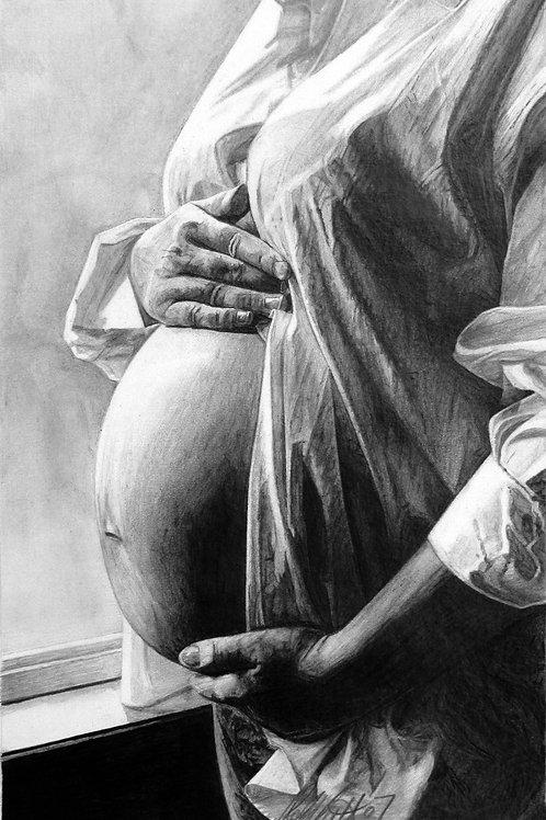"ART PRINT | Expecting Mom | 8"" x 13"""