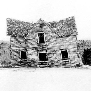Nutby Mountain abandoned house. Art by R