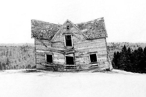 "ORIGINAL ART | Nuttby Mountain house | 9"" x 15"""