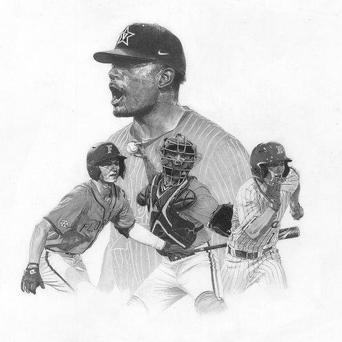 "ORIGINAL ART | Baseball America Cover | 11.5"" x 11.5"""