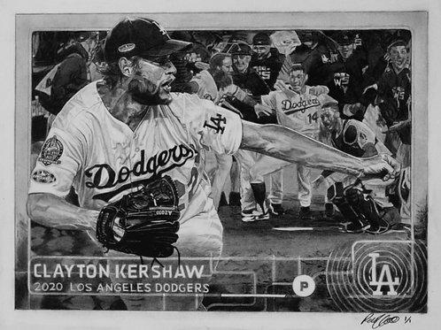 "ORIGINAL ART | Clayton Kershaw Art  | 8"" x 10"""
