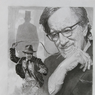 Steven Spielberg back book cover. Artwor