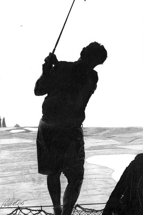 "ART PRINT | The Golfer | 8"" x 15.5"""