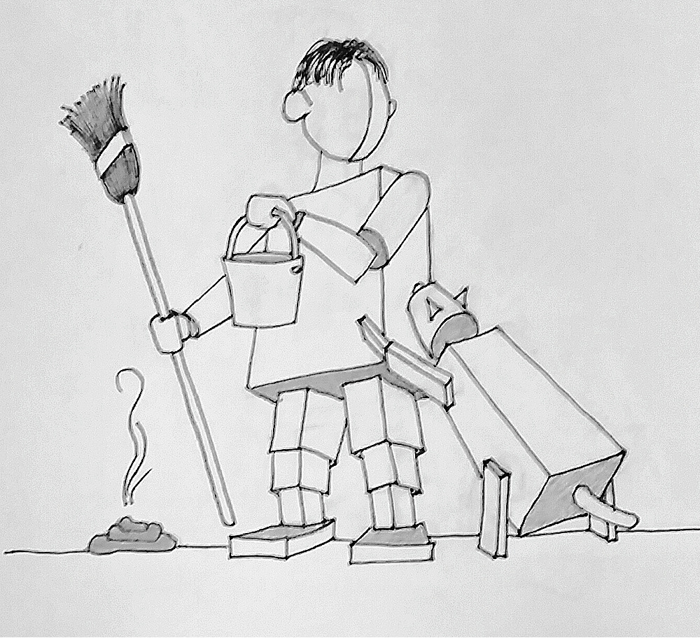 pencil sketch dog cleaning.jpg