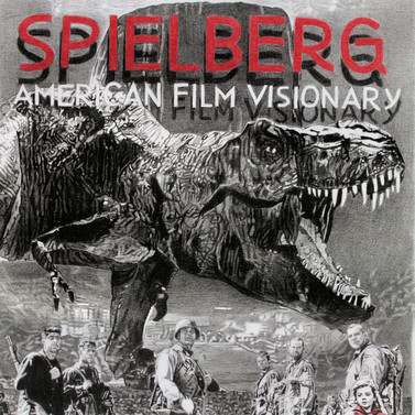 Steven Spielberg book cover. Artwork by