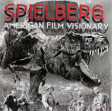 Steven Spielberg book cover. Artwork by