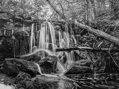 "ART PRINT | Drawing of waterfalls | 12"" x 15"""