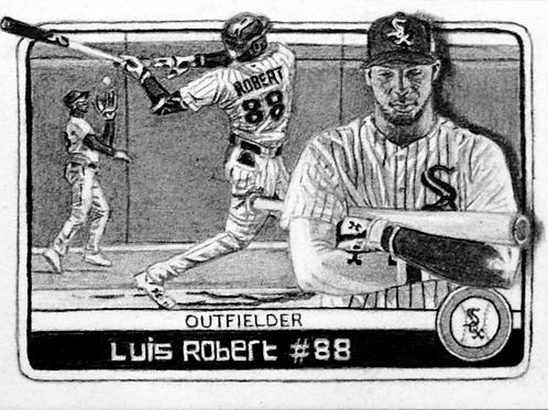 ORIGINAL ART | Baseball card | Luis Robert