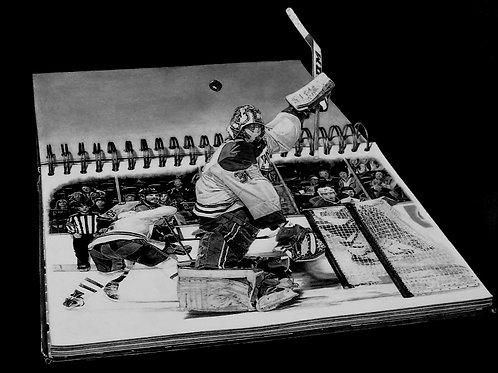 "ART PRINT | Carey Price 3D goalie art | 13.5"" x 16"""