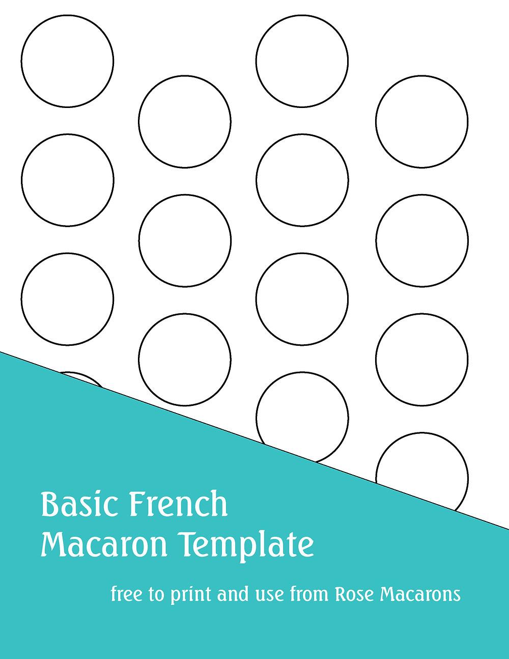 Basic French Macaron Template