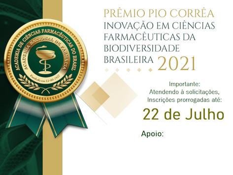 Prêmio Pio Corrêa - Inscrições Prorrogadas