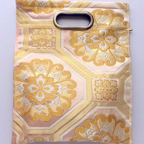 KIMONO Clutch Bag Pink Gold