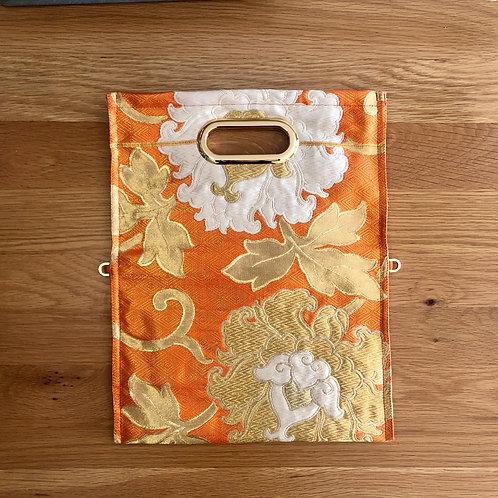 KIMONO Clutch Bag Orange Flower