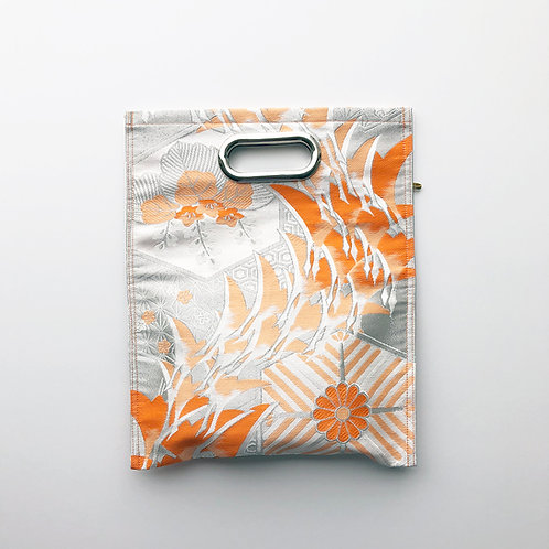 KIMONO Clutch Bag Orange Plants