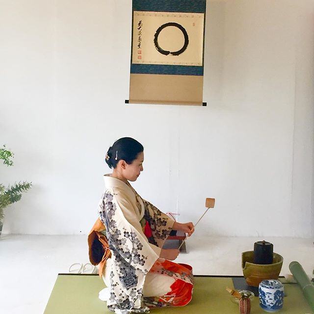 """Preparing """"koi-cha"""" meaning thick tea. Guests share a bowl of matcha by passing it around from hand to hand, sharing the moment._._._.jpg"""