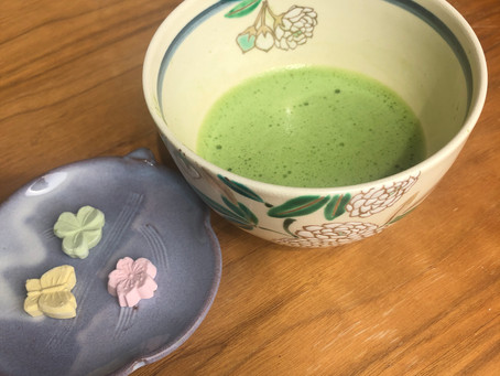 Today's bowl for Matcha green tea