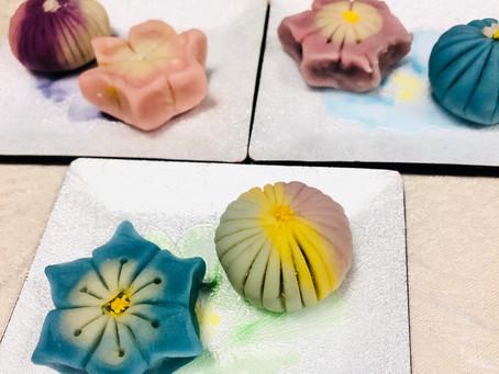 Japanese traditional confectionery WAGASHI making