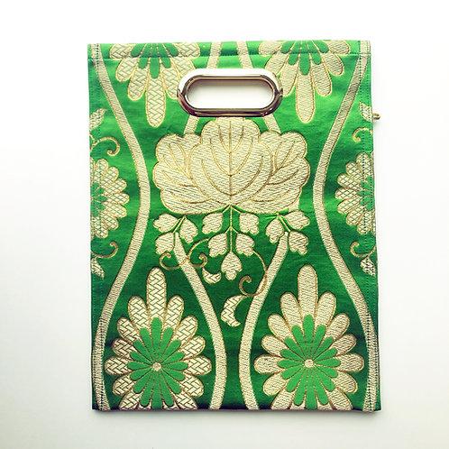 KIMONO Clutch Bag Bright Green