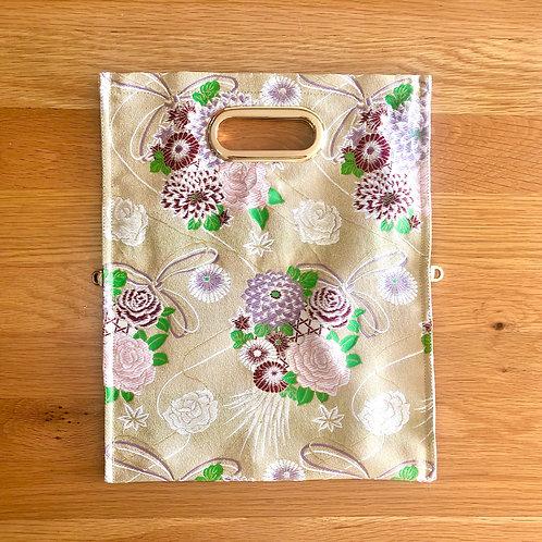 KIMONO Clutch Bag Mat Gold