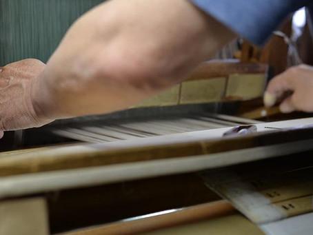 "Visited KIMONO OBI belt fabric maker, ""SHIKO"""