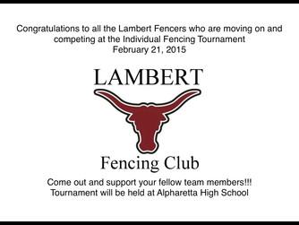 Lambert Fencing End of Season Banquet