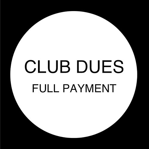 Club Dues - Full Payment