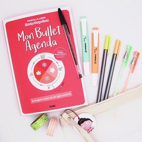 Agenda et Kit Papeterie mix orange & vert
