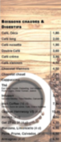 Boissons Chaudes & Digestifs