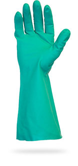 Green Unlined Nitrile Gloves