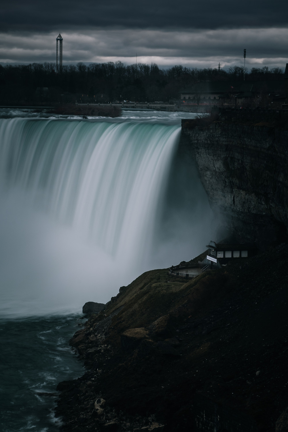 A view of Niagara Falls from the Canadian side.