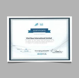 IQVIA partnership certificate