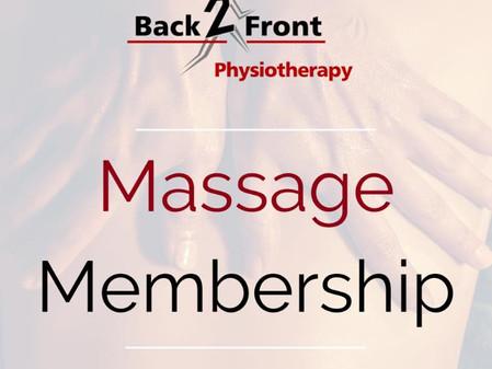 Massage Membership is Live!