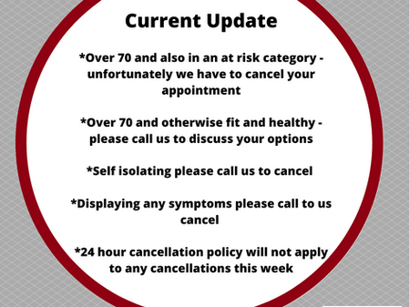 Corona Virus Update - 17th March 2020