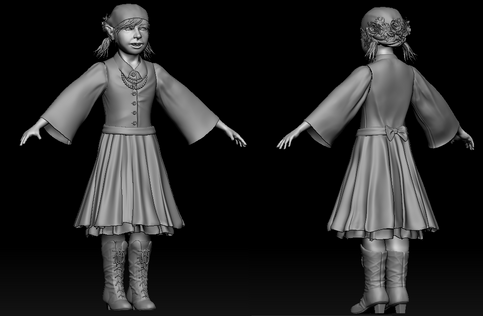 High poly, Unposed