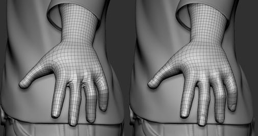 Hand Retopology