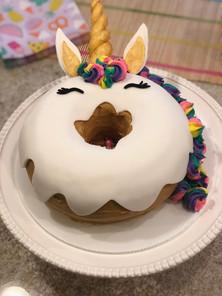 Unicorn donut cake